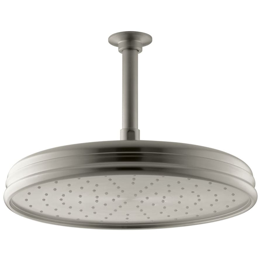 KOHLER Traditional 8.4375-in 2.0-GPM (7.6-LPM) Vibrant Brushed Nickel 1-Spray Rain Showerhead