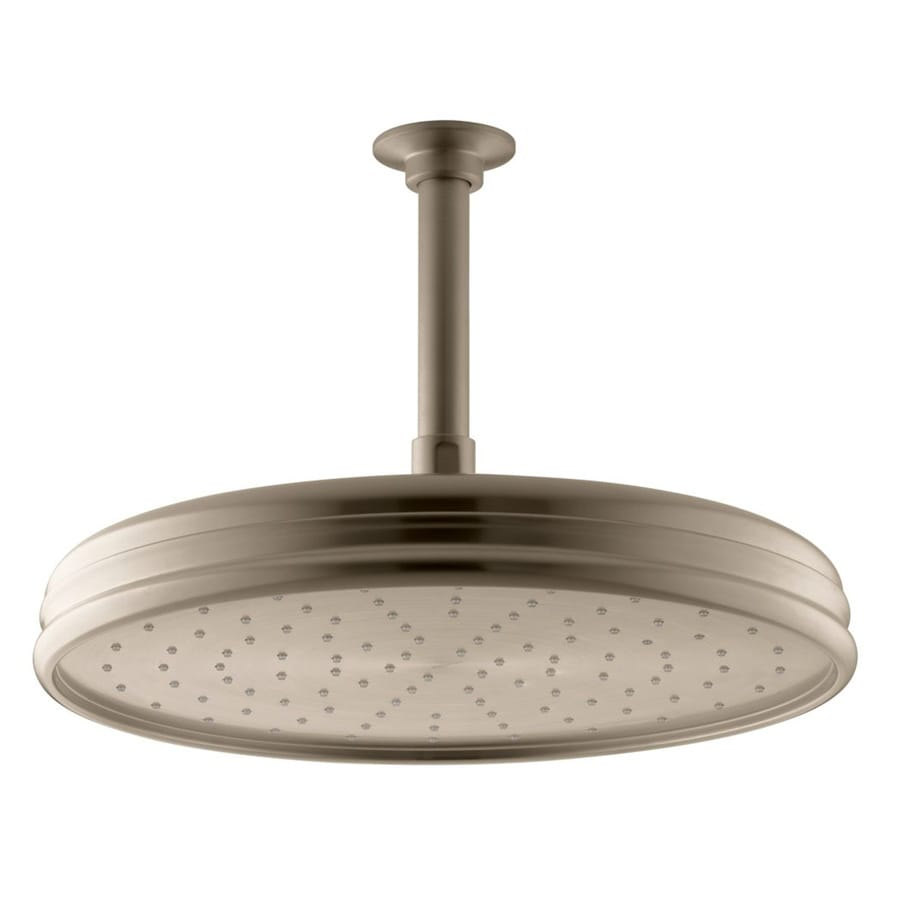 KOHLER Traditional 8.4375-in 2.0-GPM (7.6-LPM) Vibrant Brushed Bronze 1-Spray Rain Showerhead