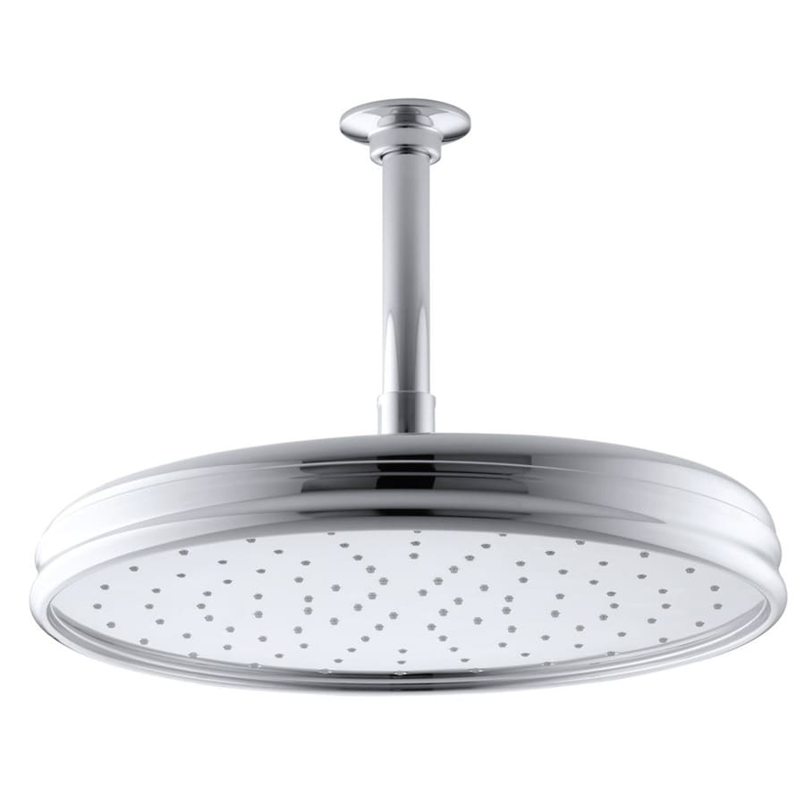 KOHLER Traditional 8.4375-in 2.0-GPM (7.6-LPM) Polished Chrome 1-Spray Rain Showerhead