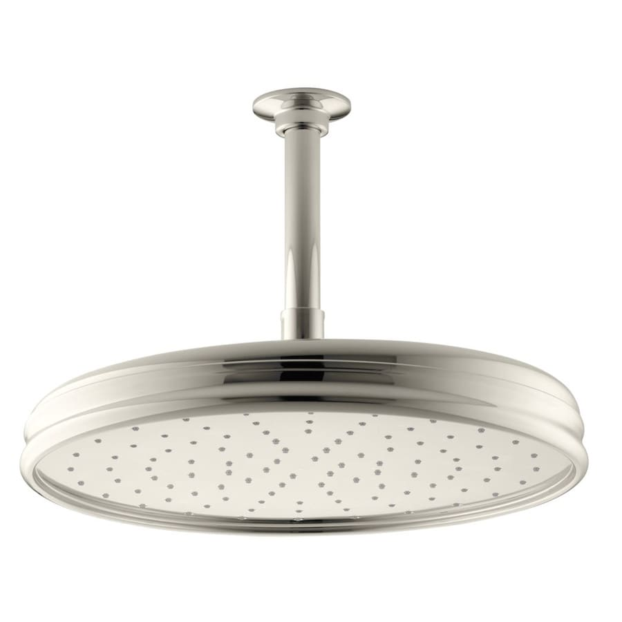 KOHLER Traditional 8.4375-in 2.0-GPM (7.6-LPM) Vibrant Polished Nickel 1-Spray Rain Showerhead
