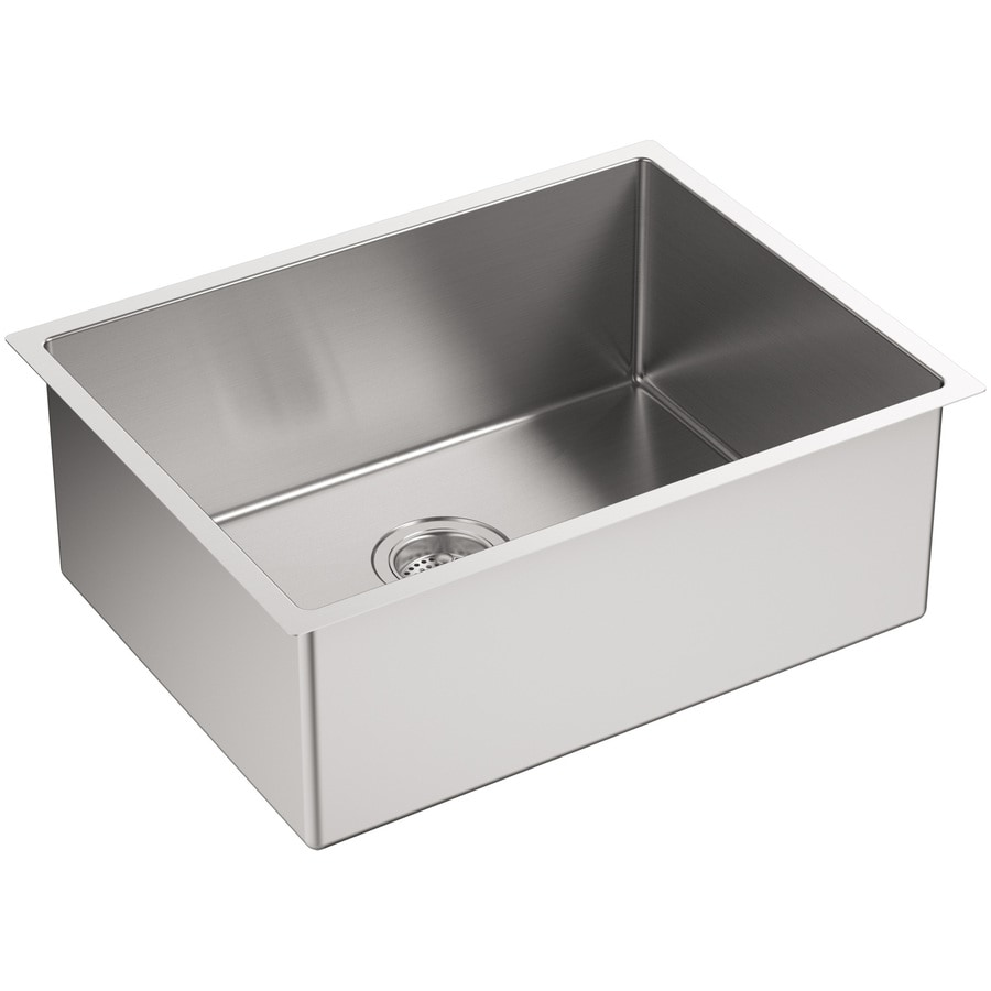 KOHLER Strive 18.25-in x 24-in Stainless Steel Single-Basin Undermount Residential Kitchen Sink