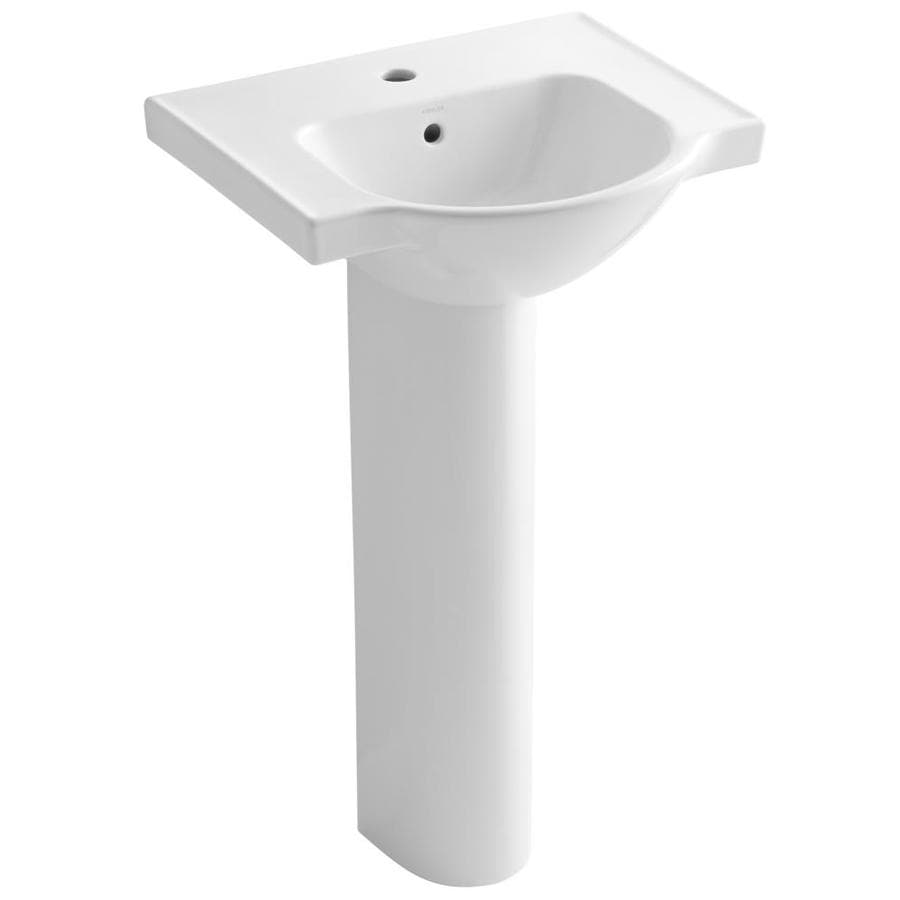 Kohler Veer 35 5 In H White Vitreous China Pedestal Sink