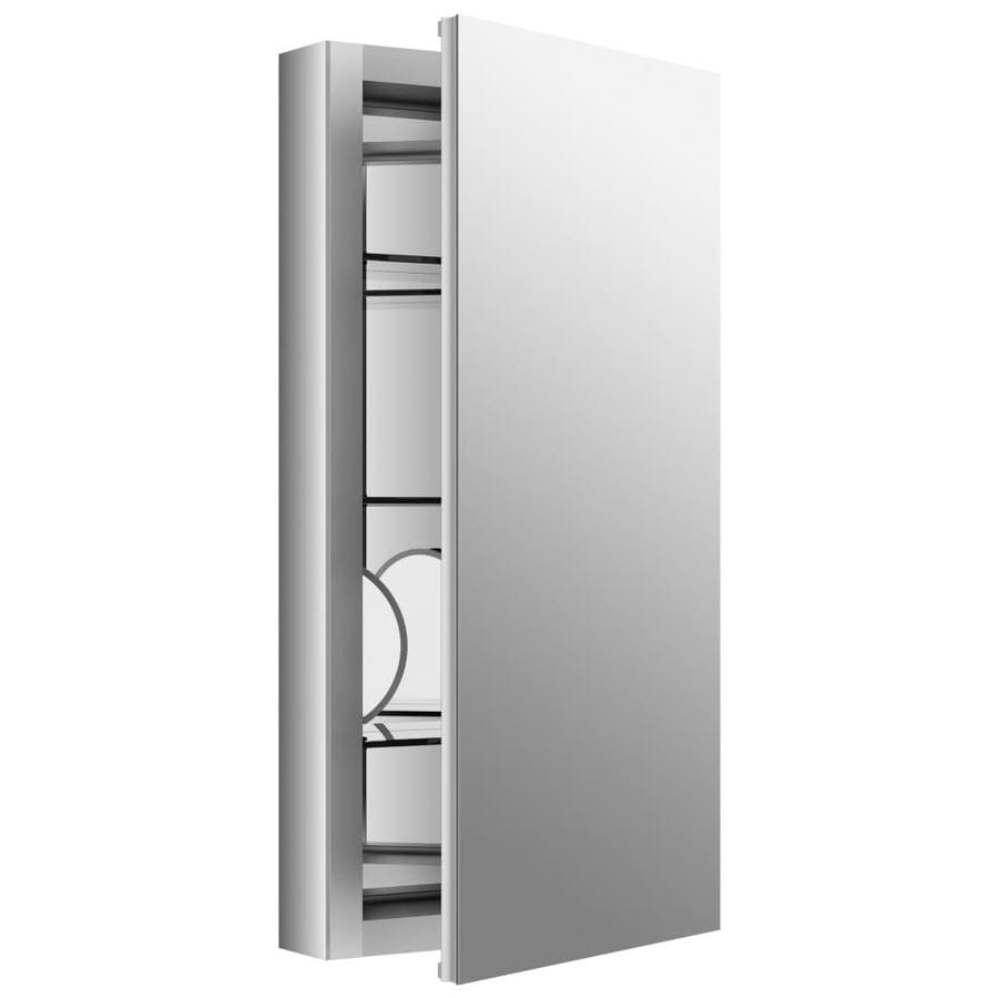 KOHLER Verdera 15-in x 30-in Rectangle Surface/Recessed Mirrored Aluminum Medicine Cabinet