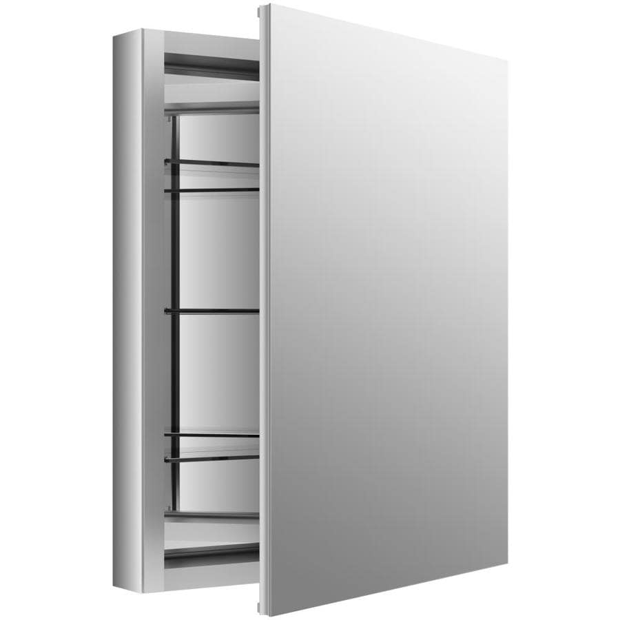 KOHLER Verdera 24-in x 30-in Rectangle Surface/Recessed Mirrored Aluminum Medicine Cabinet