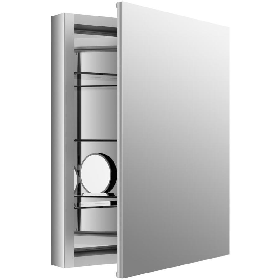 KOHLER Verdera 24-in x 30-in Rectangle Recessed Mirrored Aluminum Medicine Cabinet