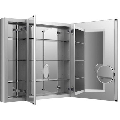 online store 268e6 49be6 Verdera 40-in x 30-in Rectangle Surface/Recessed Medicine Cabinet with  Mirror