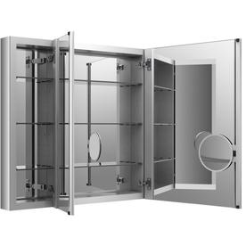 'KOHLER Verdera x 30-in Rectangle Surface/Recessed Mirrored Aluminum Medicine Cabinet' from the web at 'https://mobileimages.lowes.com/product/converted/885612/885612211002lg.jpg'