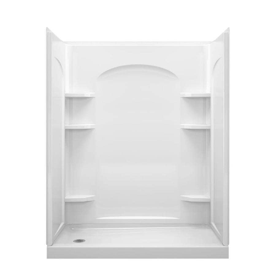 Sterling Ensemble White 4-Piece Alcove Shower Kit (Common: 30-in x 60-in; Actual: 30-in x 60-in)