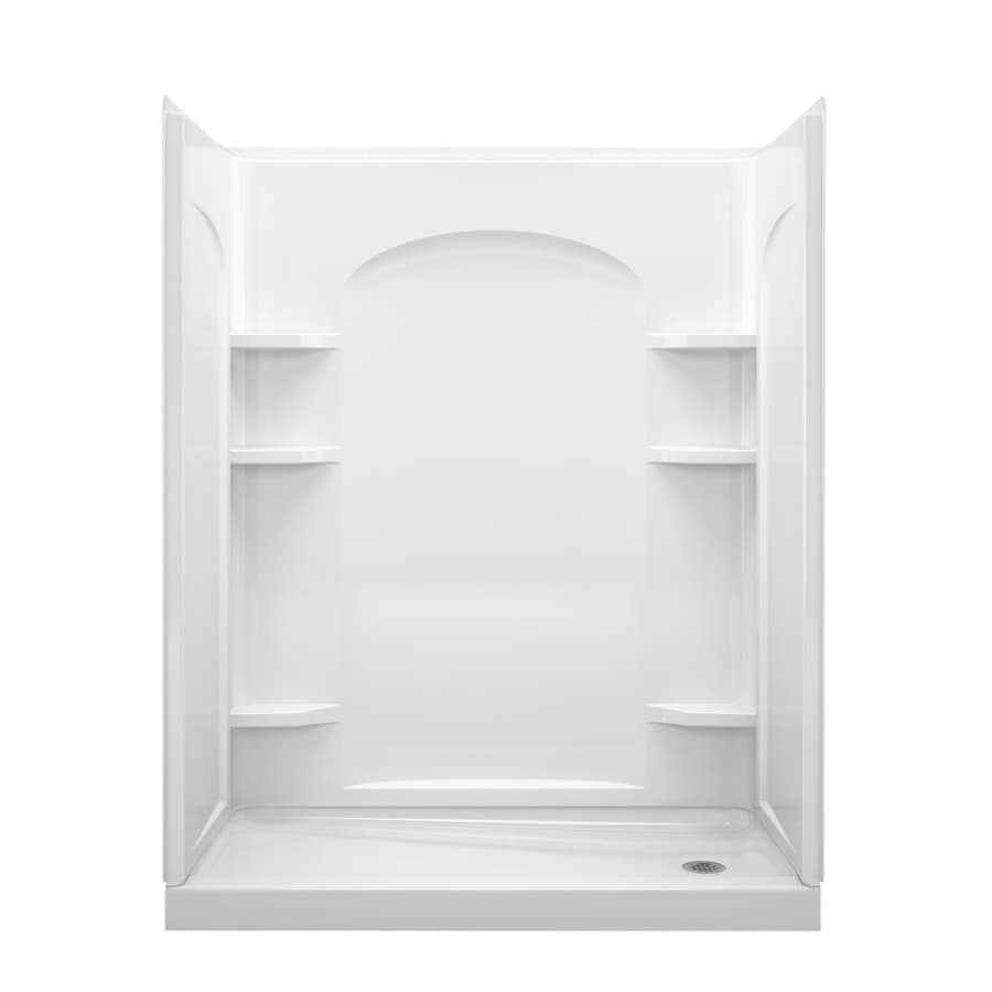 Shop Sterling Ensemble White 4 Piece Alcove Shower Kit