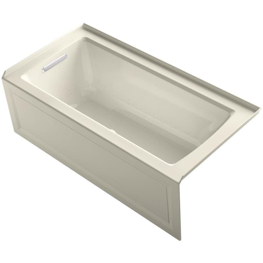 KOHLER Archer 60-in L x 30-in W x 19-in H Acrylic Rectangular Alcove Air Bath