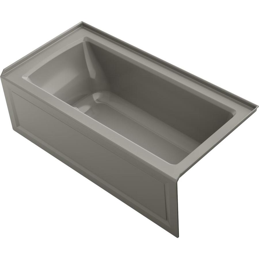 KOHLER Underscore 60-in L x 30-in W x 19-in H Acrylic Rectangular Drop-in Air Bath