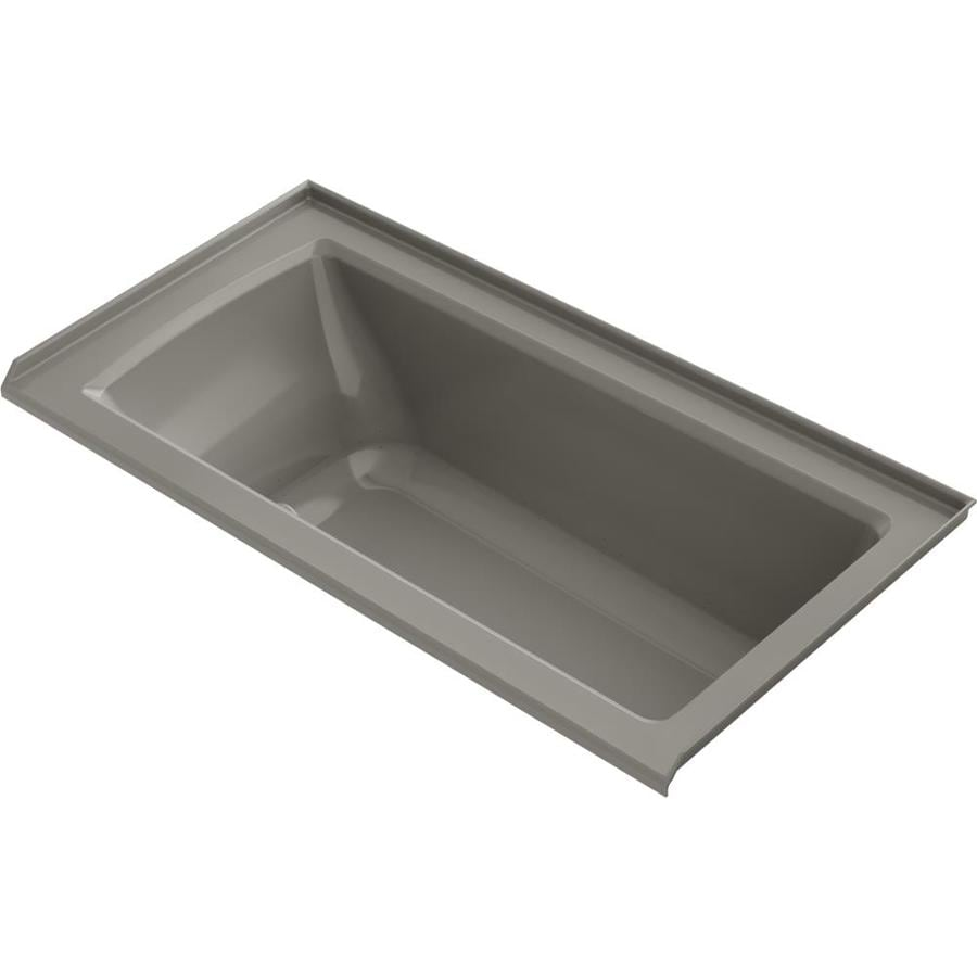 KOHLER Archer 72-in L x 36-in W x 20.25-in H Cashmere Acrylic Rectangular Alcove Air Bath