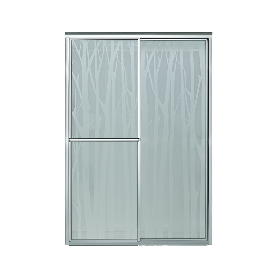 Sterling Deluxe 43.875-in to 48.875-in Framed Silver Sliding Shower Door