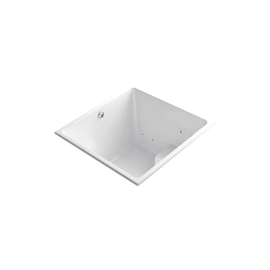KOHLER Underscore 48-in L x 48-in W x 35-in H White Acrylic Rectangular Drop-in Air Bath