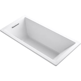 Kohler Underscore Rectangle 32 In W X 66 In L Ice Grey Acrylic Rectangular Reversible Drain Drop In Soaking In The Bathtubs Department At Lowes Com