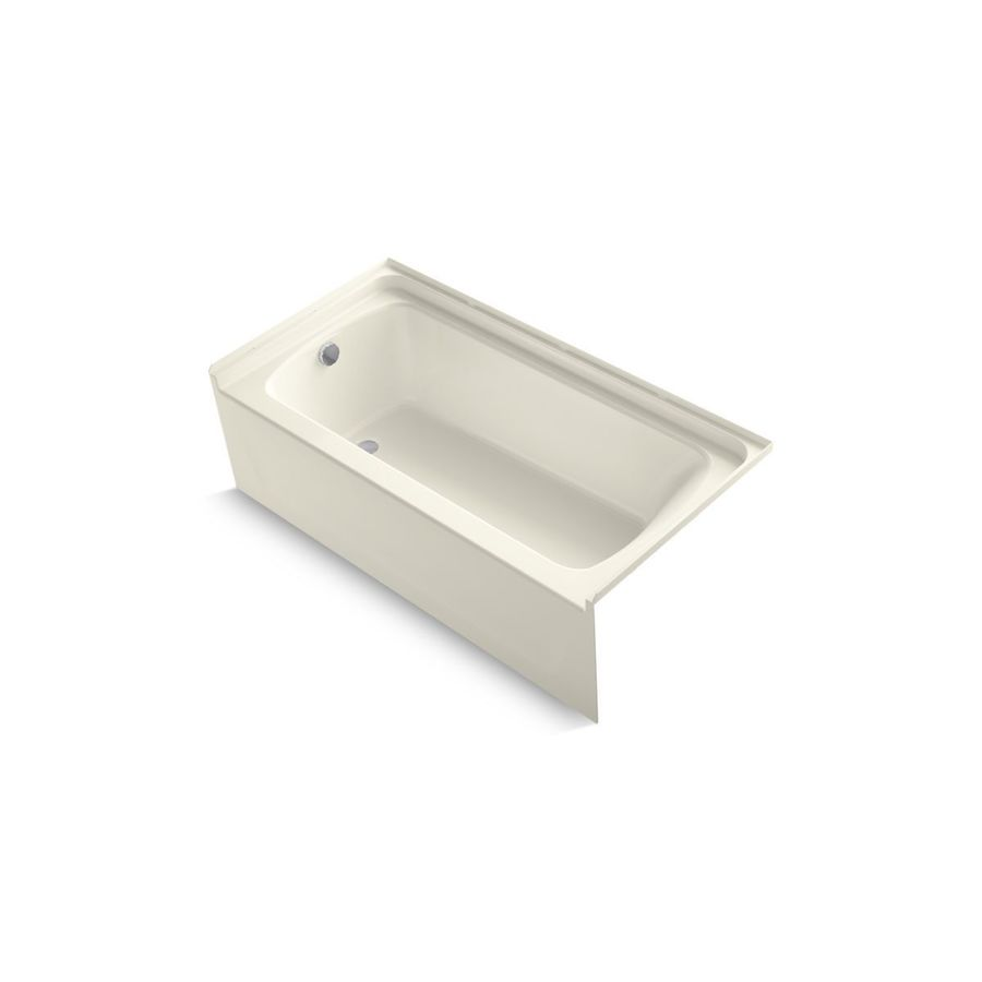 Sterling Ensemble 60-in Biscuit Vikrell Alcove Bathtub with Left-Hand Drain