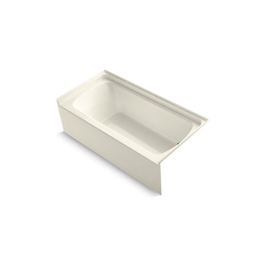 Sterling Ensemble 60-in Biscuit Vikrell Alcove Bathtub with Right-Hand Drain