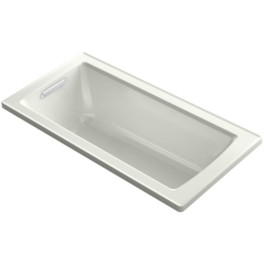 KOHLER Archer 60-in Dune Acrylic Drop-In Bathtub with Reversible Drain
