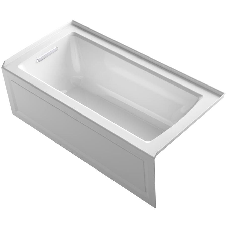 KOHLER Archer White Acrylic Rectangular Whirlpool Tub (Common: 30-in x 60-in; Actual: 20.25-in x 30-in x 60-in)