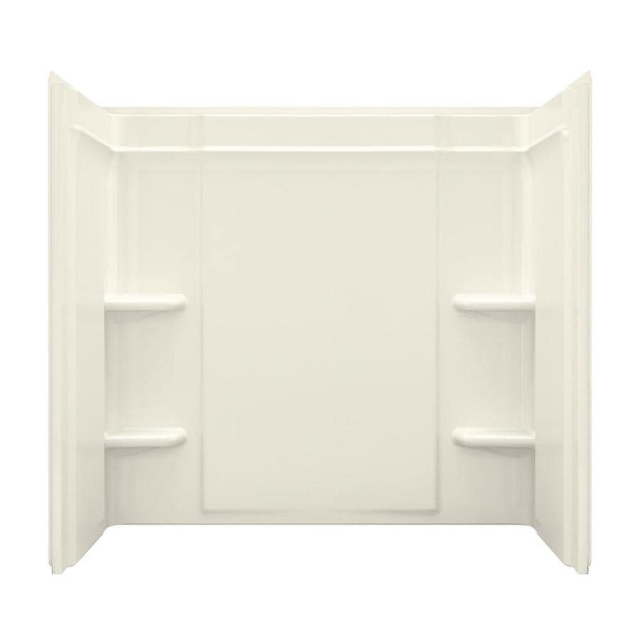 Shop Sterling Ensemble Biscuit Vikrell Bathtub Wall Surround ...