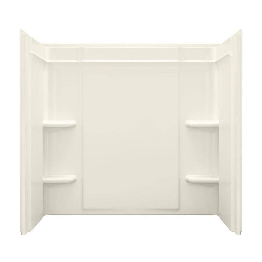 Sterling Ensemble Biscuit Vikrell Bathtub Wall Surround (Common: 60-in x 32-in; Actual: 55-in x 60-in x 33.25-in)
