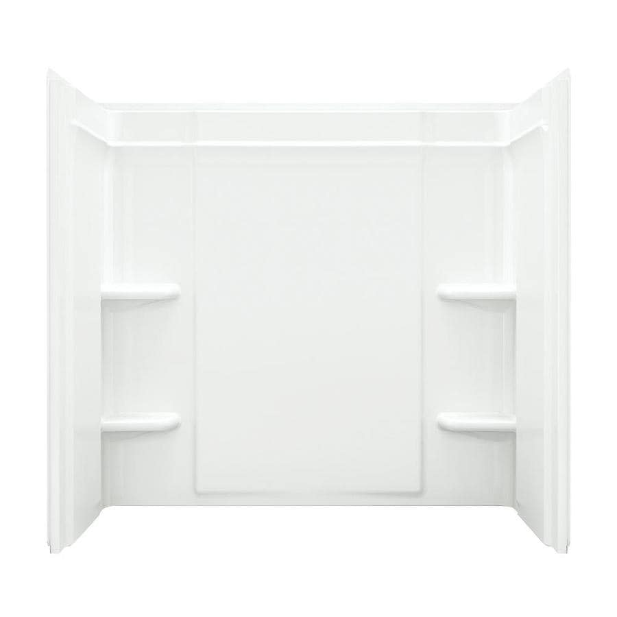 Sterling Ensemble White Vikrell Bathtub Wall Surround (Common: 60-in x 32-in; Actual: 55-in x 60-in x 33.25-in)
