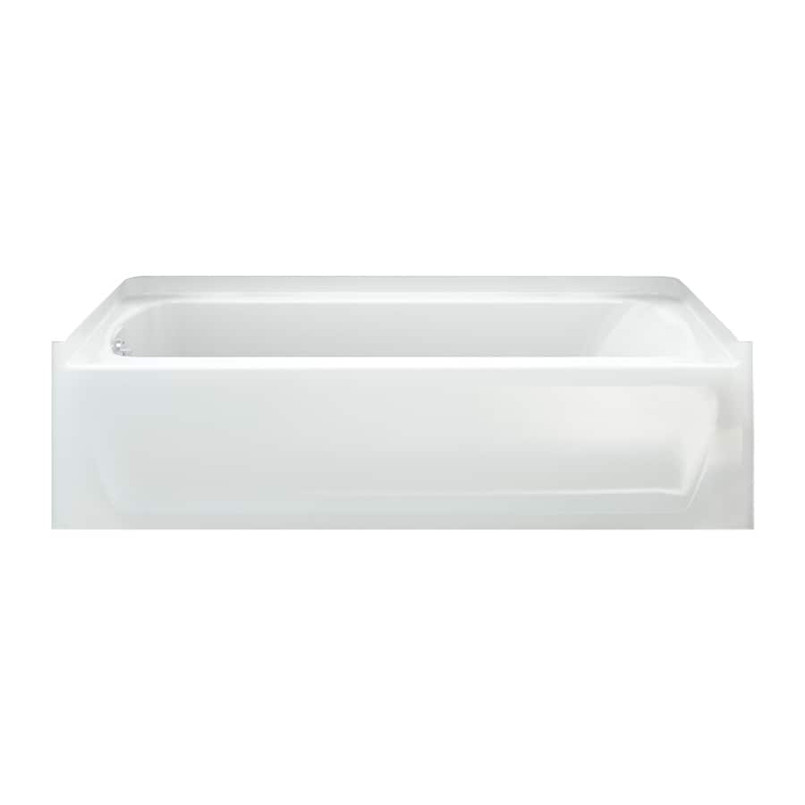 Sterling Ensemble 60-in White Vikrell Alcove Bathtub with Left-Hand Drain