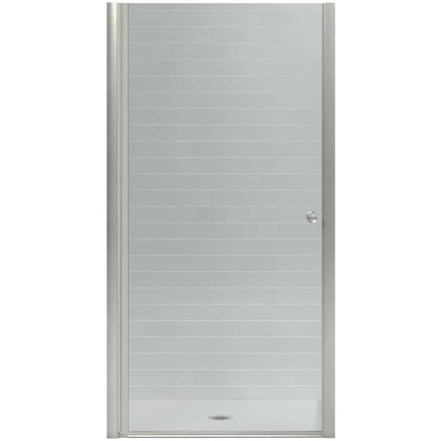 KOHLER Fluence 31.25-in to 32.75-in W Frameless Crystal Clear Pivot Shower Door