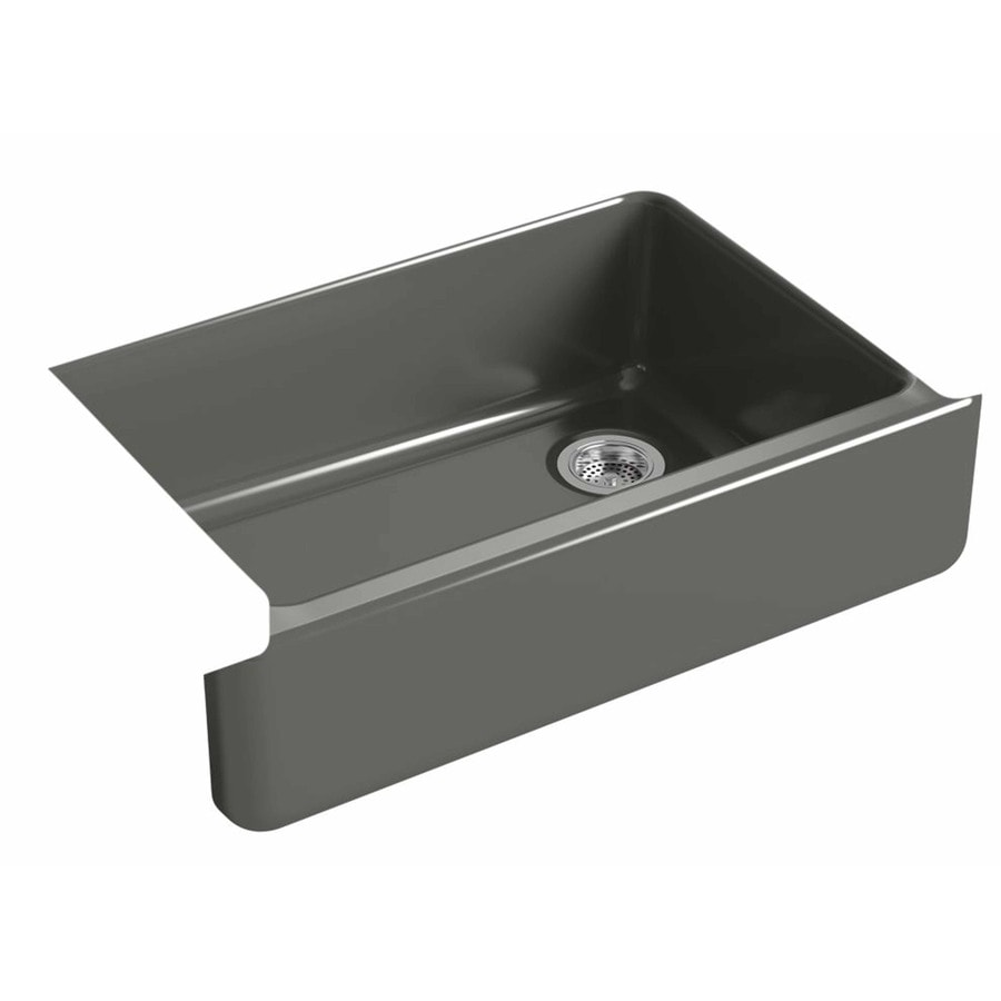 KOHLER Whitehaven 32.68-in X 21.56-in Thunder Grey Single