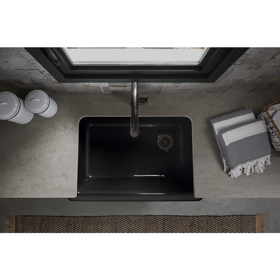 KOHLER Whitehaven 32.68-in X 21.56-in Black Black Single