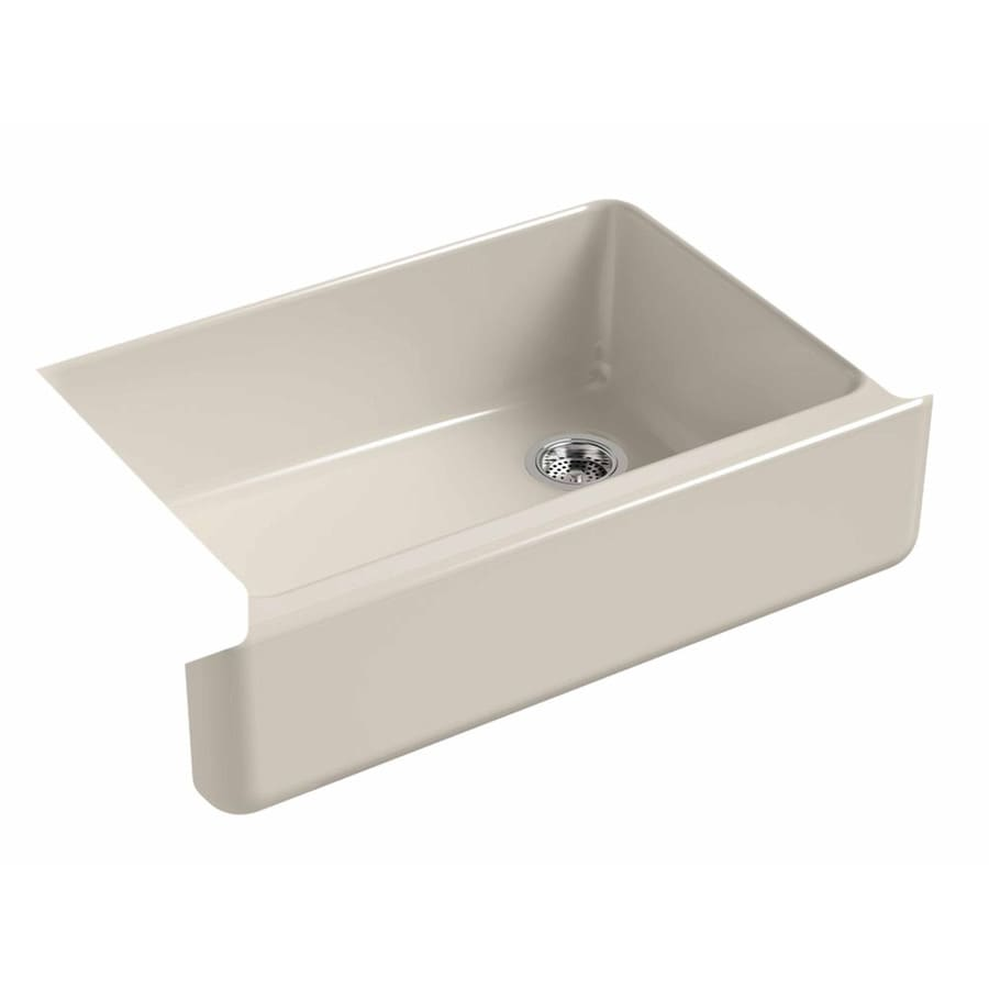 KOHLER Whitehaven 32.68-in X 21.56-in Sandbar Single-Basin