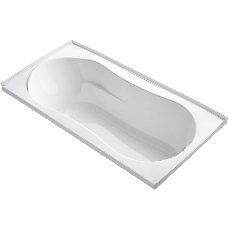 KOHLER ProFlex White Acrylic Hourglass In Rectangle Drop-in Bathtub with Right-Hand Drain (Common: 36-in x 72-in; Actual: 20.13-in x 36-in x 72-in)