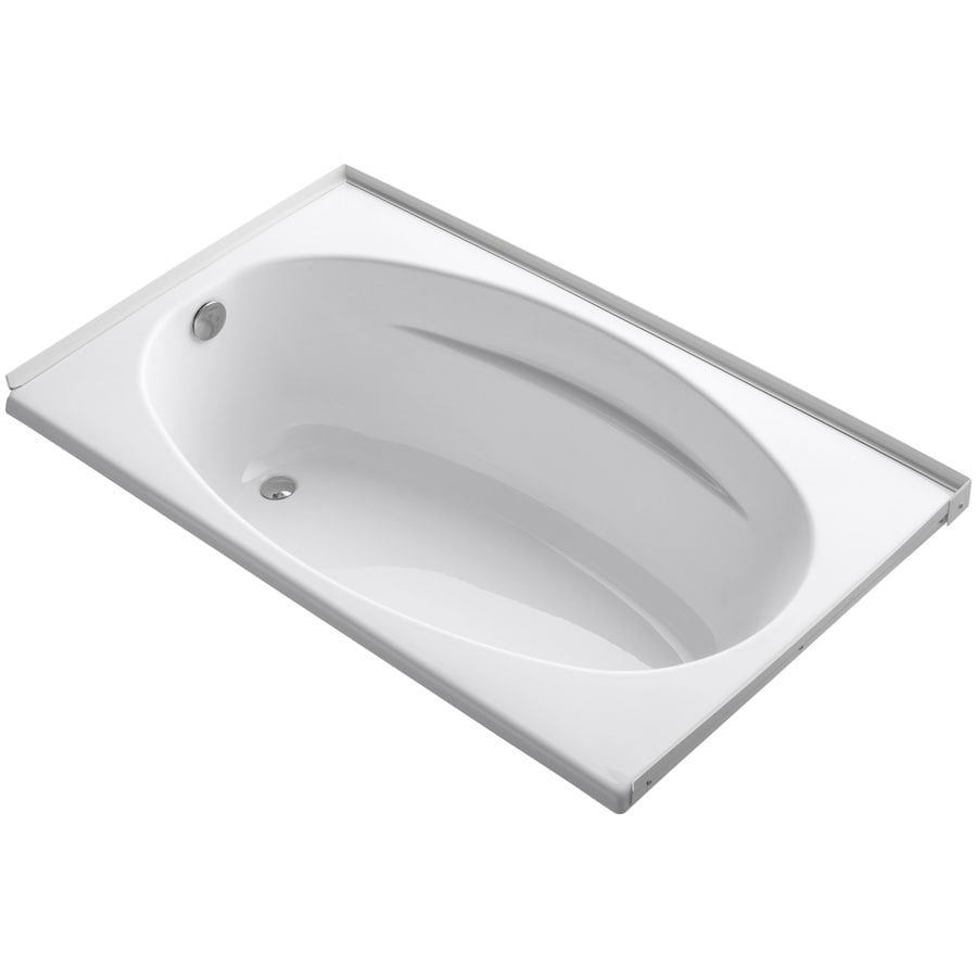 KOHLER ProFlex White Acrylic Oval In Rectangle Drop-in Bathtub with Left-Hand Drain (Common: 36-in x 60-in; Actual: 18.13-in x 36-in x 60-in)