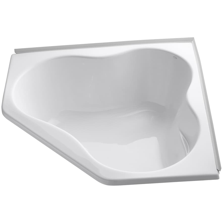 KOHLER ProFlex White Acrylic Corner Drop-in Bathtub with Center Drain (Common: 54-in x 54-in; Actual: 20.5-in x 54-in x 54-in)