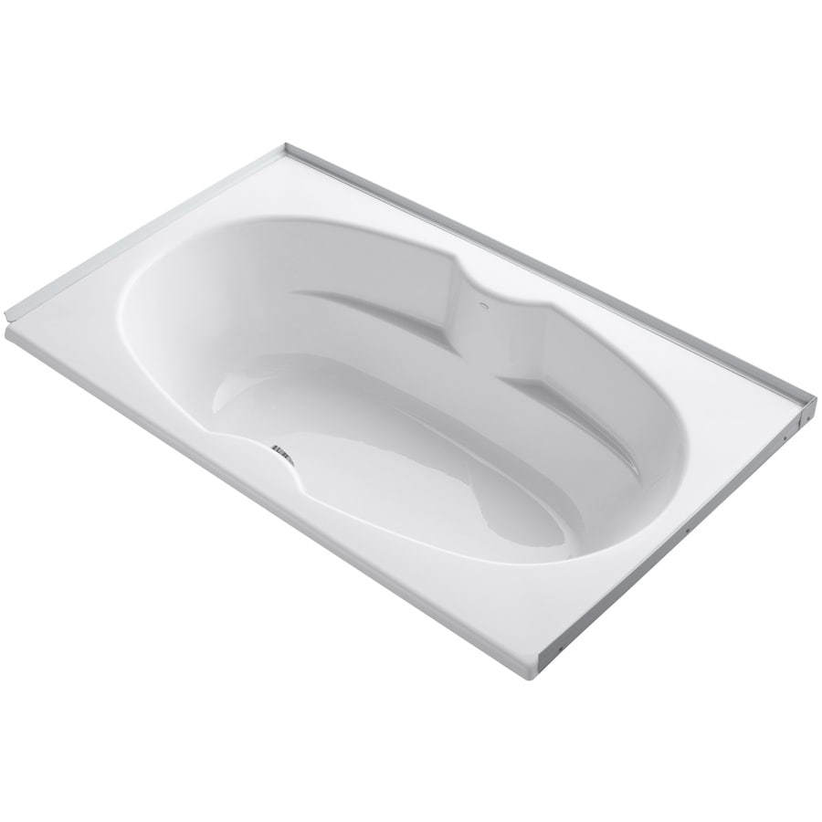 KOHLER ProFlex White Acrylic Oval In Rectangle Drop-in Bathtub with Center Drain (Common: 42-in x 72-in; Actual: 20.13-in x 42-in x 72-in)