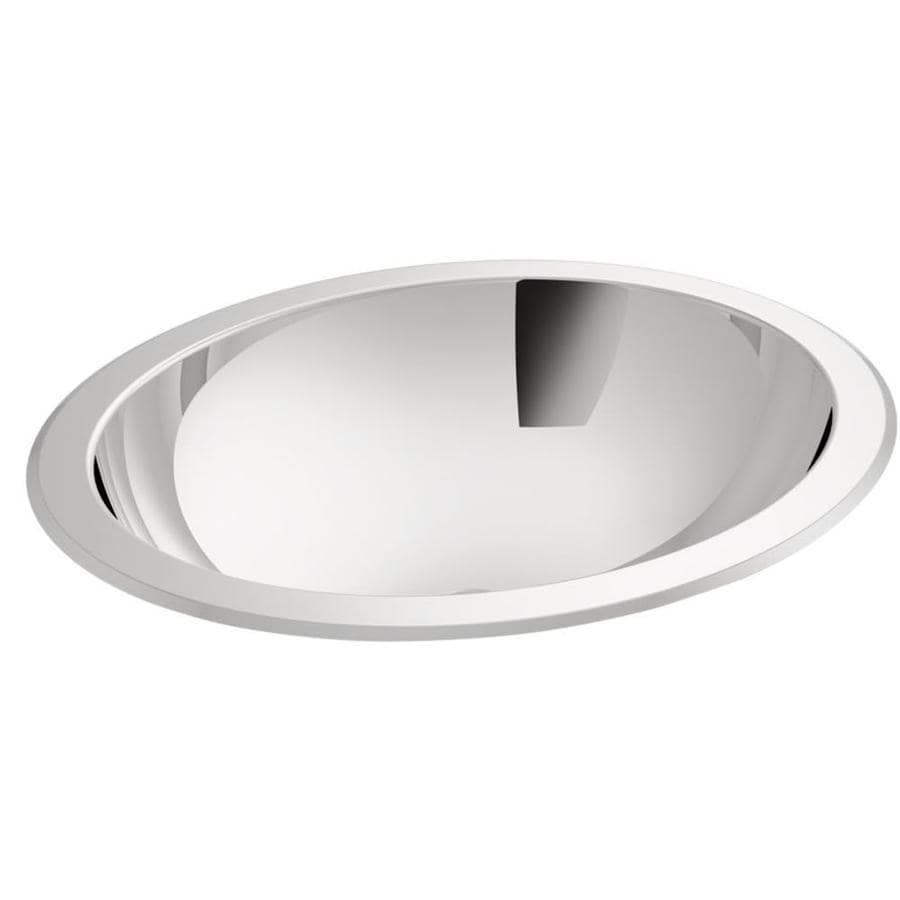 KOHLER Bachata Stainless Steel Stainless Steel Drop-in Oval Bathroom Sink
