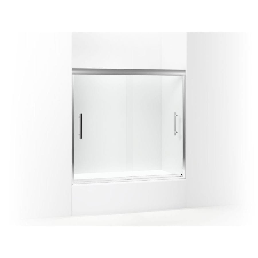 Sterling Finesse 56.625-in to 59.625-in W x 55.5-in H Silver Sliding Shower Door