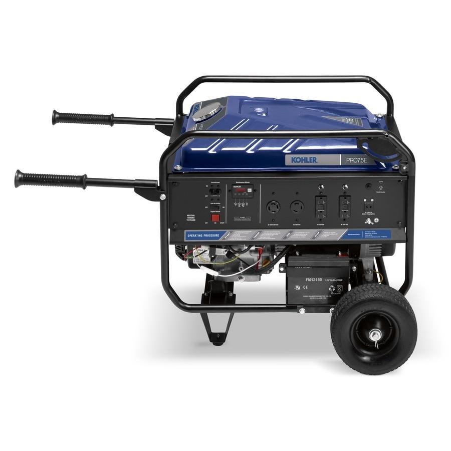 KOHLER Pro75E 6,300-Running-Watt Portable Generator with Kohler Engine