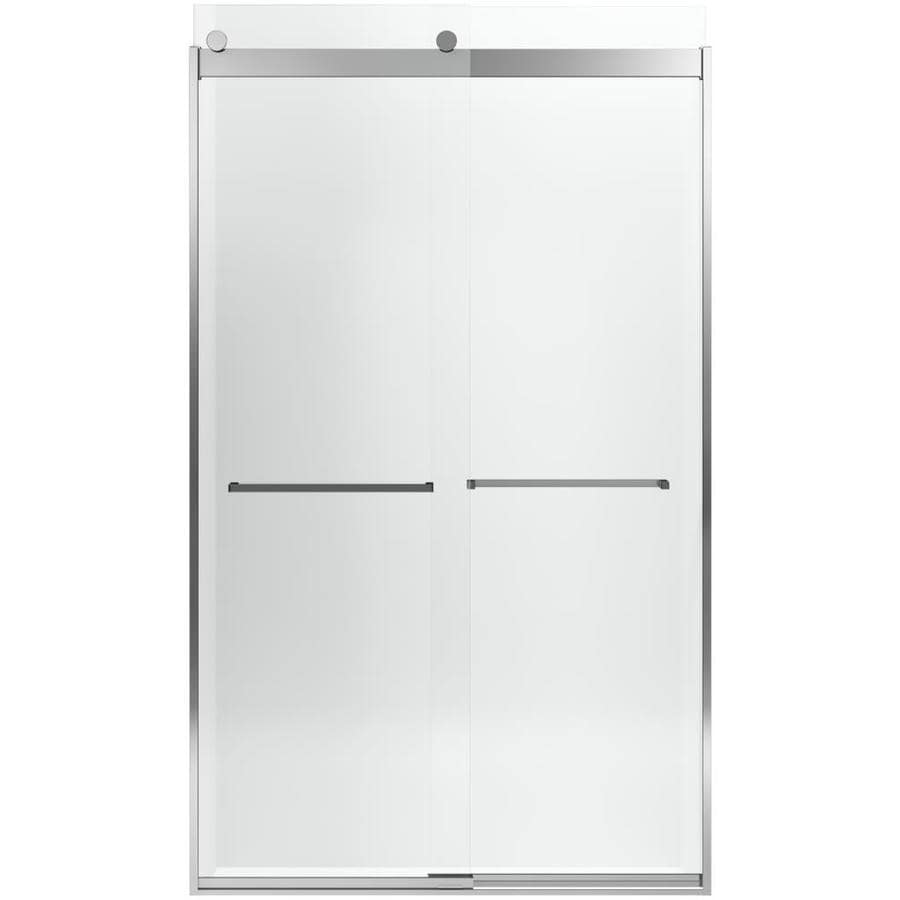 KOHLER Levity 44.625-in to 47.625-in W x 82-in H Bright Polished Silver Sliding Shower Door