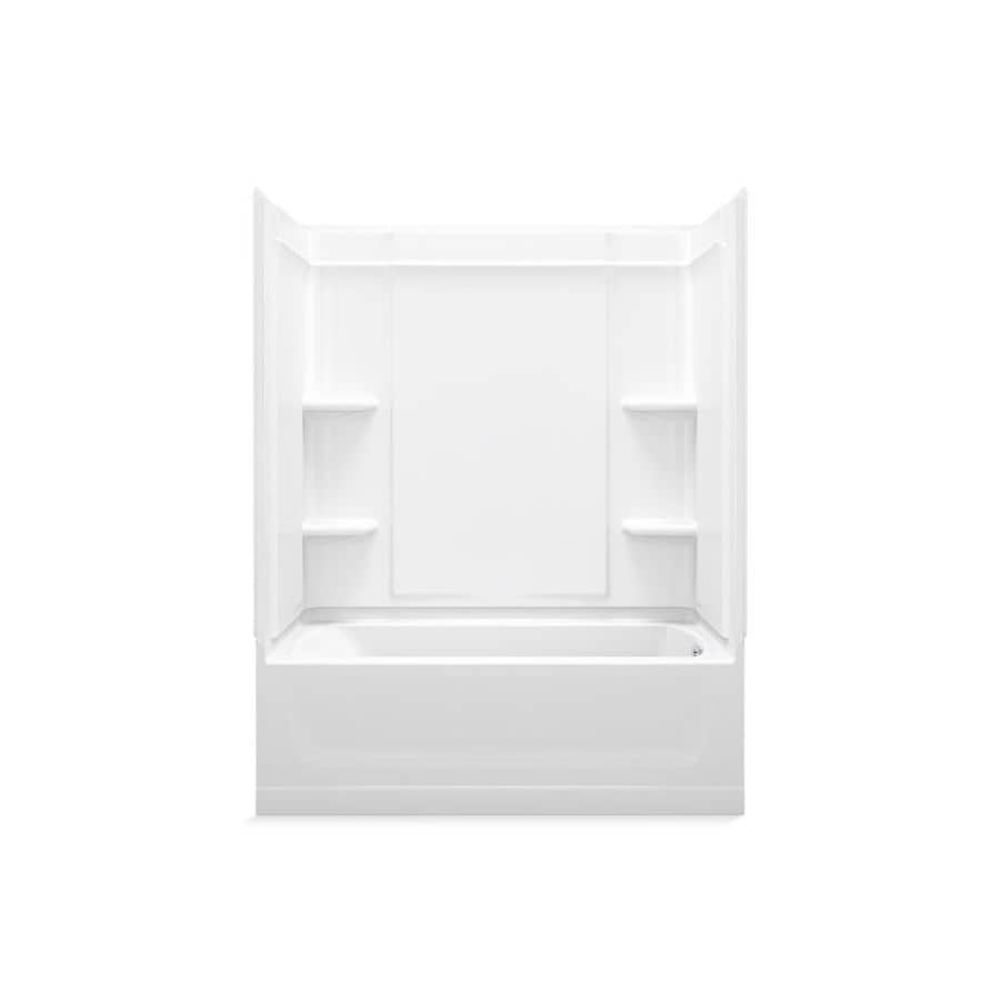 Sterling Ensemble White 4-Piece Alcove Shower Kit (Common: 30-in x 60-in; Actual: 30.25-in x 60-in)