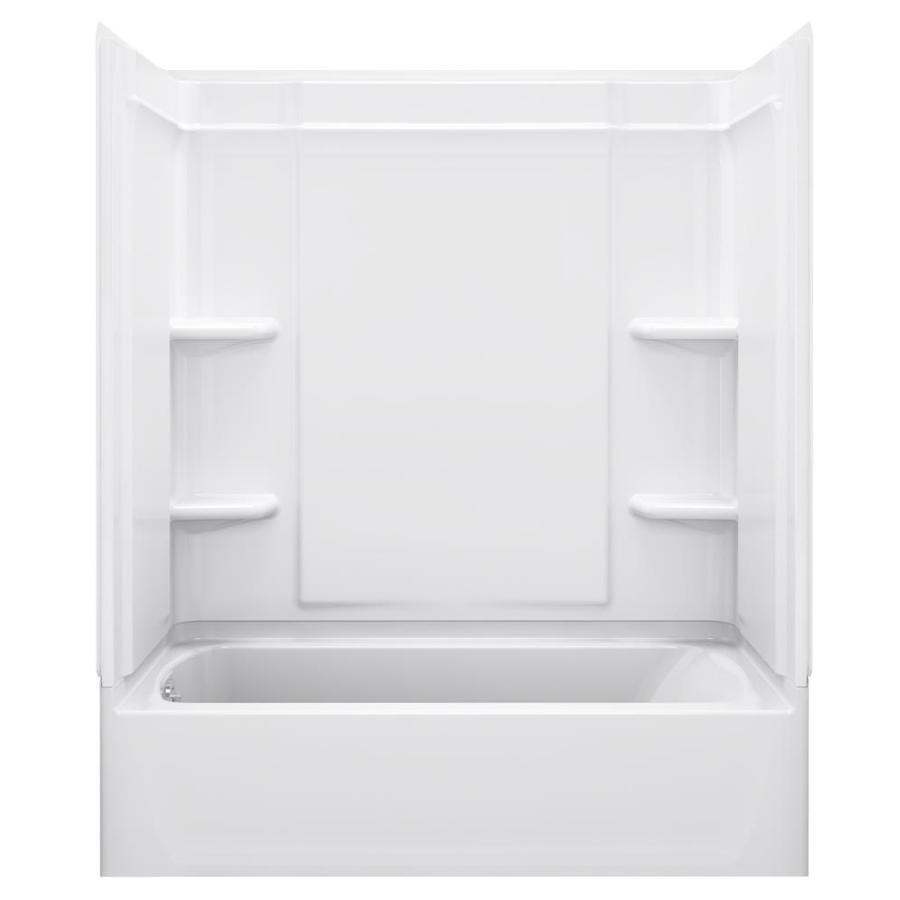 Sterling Ensemble White 4-Piece Alcove Shower Kit (Common: 32-in x 60-in; Actual: 32-in x 60-in)