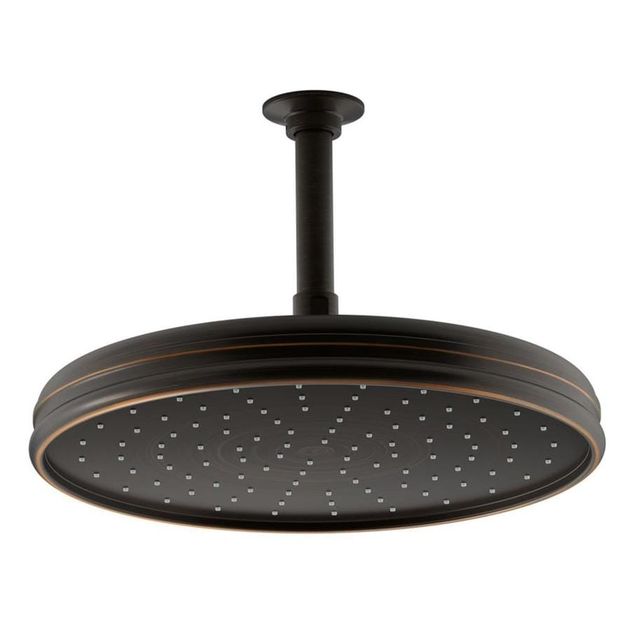 KOHLER Traditional 8.4375-in 2.0-GPM (7.6-LPM) Oil-Rubbed Bronze 1-Spray Rain Showerhead