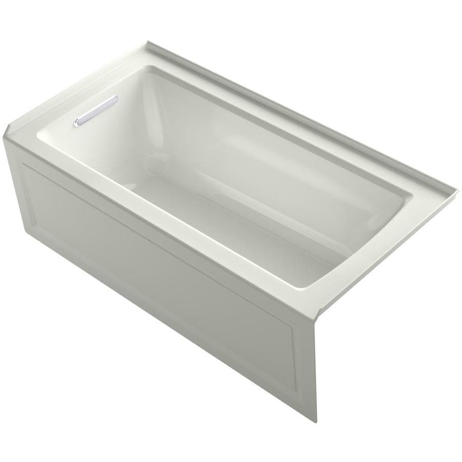 KOHLER Archer Dune Acrylic Rectangular Alcove Whirlpool Tub (Common: 30-in x 60-in; Actual: 20.25-in x 30-in)