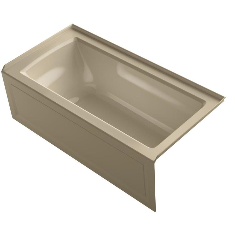 KOHLER Archer Mexican Sand Acrylic Rectangular Whirlpool Tub (Common: 30-in x 60-in; Actual: 20.25-in x 30-in x 60-in)