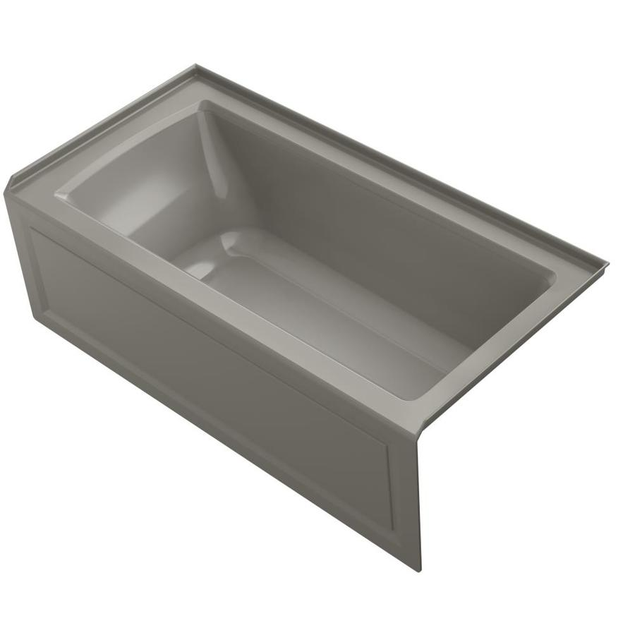 KOHLER Archer Cashmere Acrylic Rectangular Alcove Whirlpool Tub (Common: 30-in x 60-in; Actual: 20.25-in x 30-in)