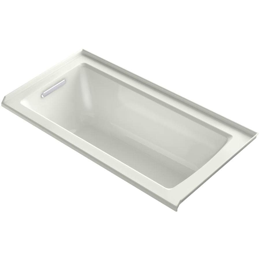 KOHLER Archer 60-in Dune Acrylic Alcove Bathtub with Left-Hand Drain