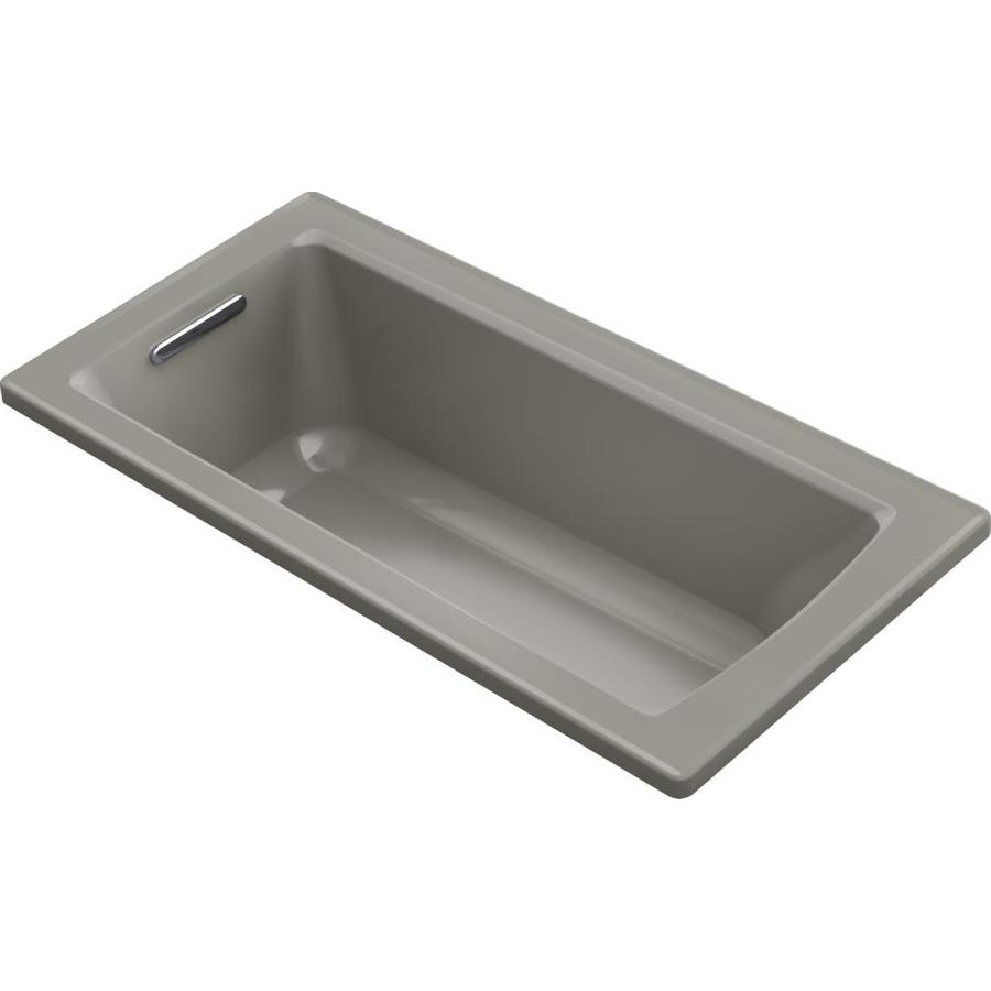 KOHLER Archer Cashmere Acrylic Rectangular Drop-in Bathtub with Reversible Drain (Common: 30-in x 60-in; Actual: 19.0000-in x 30.0000-in x 60.0000-in)