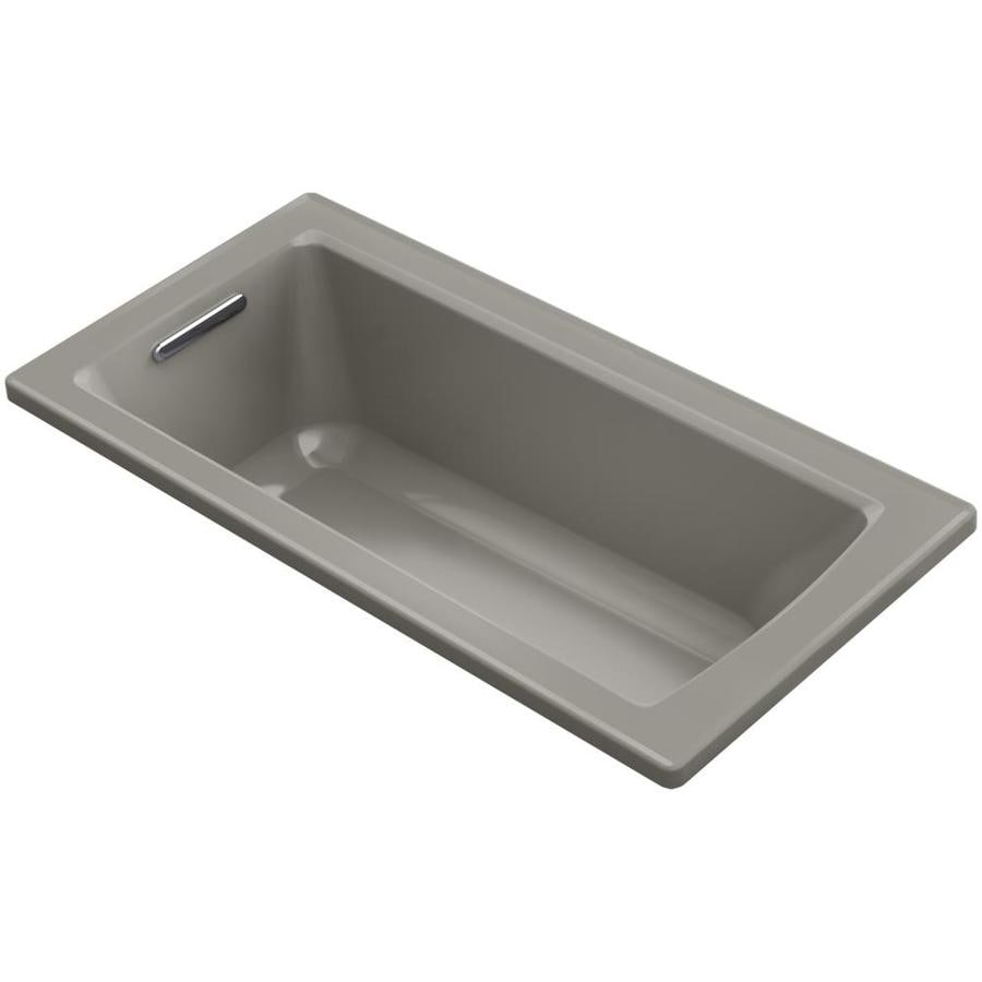 KOHLER Archer Dune Acrylic Rectangular Drop-in Bathtub with Reversible Drain (Common: 30-in x 60-in; Actual: 19-in x 30-in x 60-in)