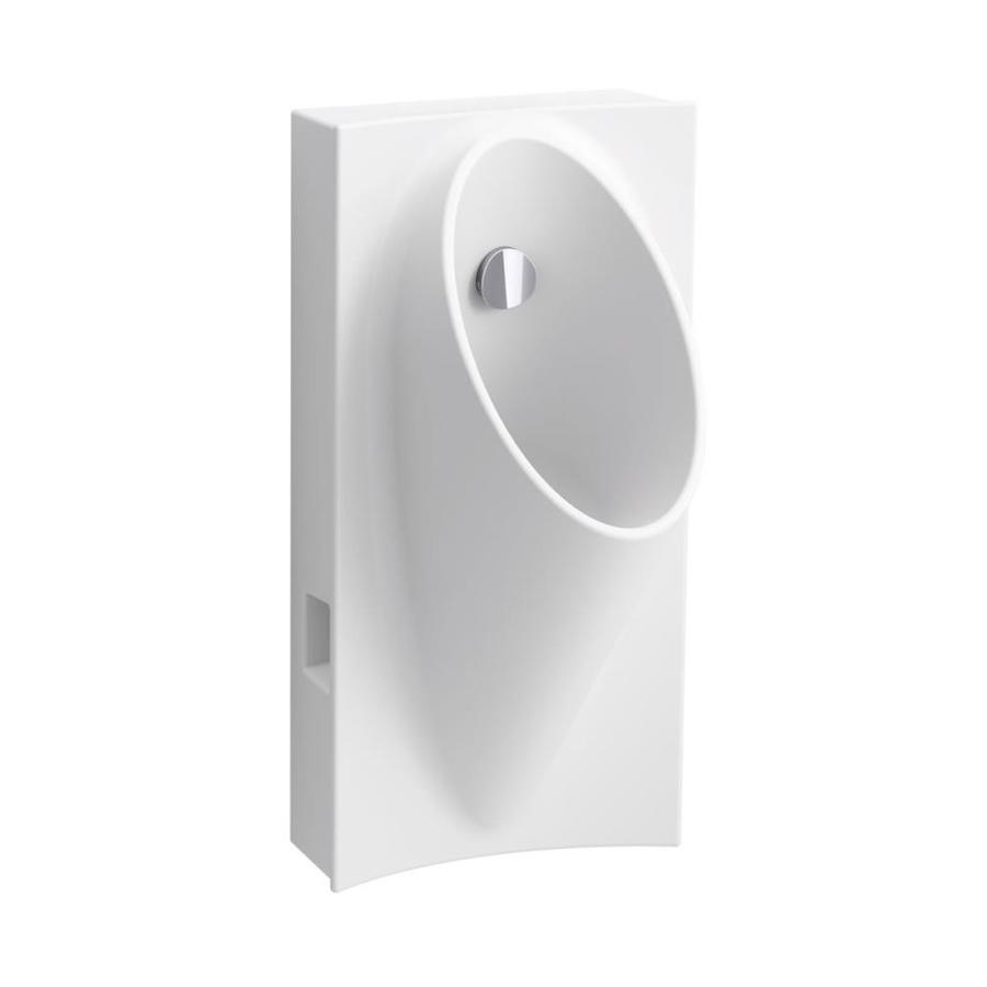 KOHLER 15-in W x 29.625-in H White Wall-Mounted WaterSense Urinal