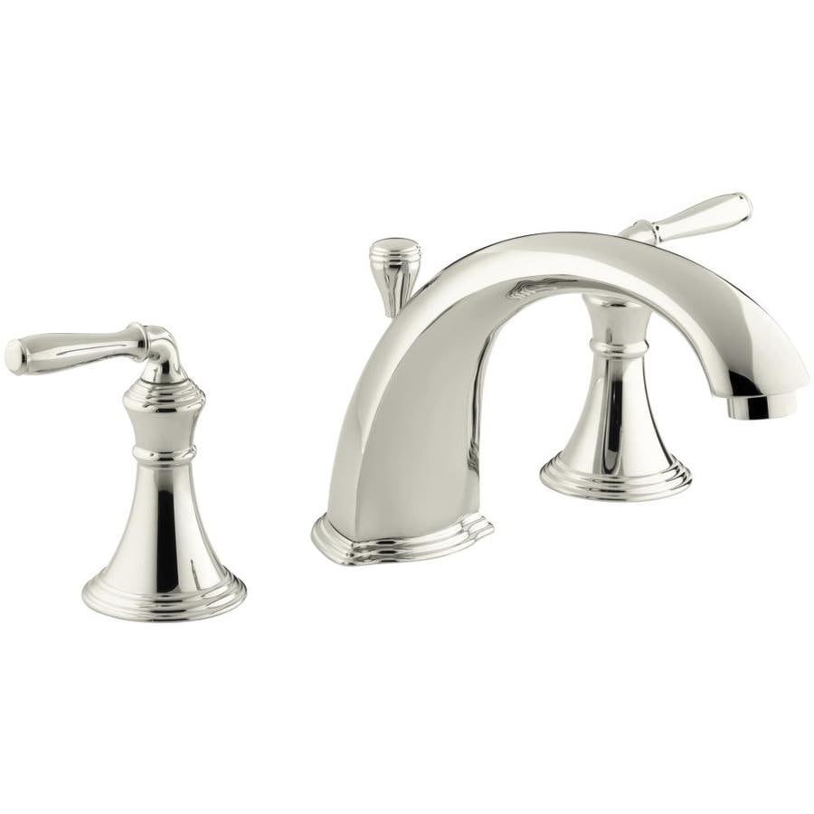 KOHLER Nickel Bathtub Spout with Diverter